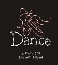 Dance Shoes Diamante Rhinestone Crystals Iron On Transfers - £3.49 FREE P&P