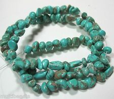 "Turquoise 3-7mm Small Nugget Beads 16"" Jewelry Crafts Spacer"