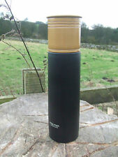 BLACK GOLD SHOTGUN CARTRIDGE SHAPE GAME SHOOTING VACUUM FLASK metal unbreakable