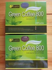 2 Boxes Leptin Green Coffee 800 Slimming Tea Weight Loss 18 sachets/box