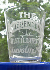 Vintage THE INDEPENDENT DISTILLING CO,Kansas City,Missouri MO,Whiskey Shot glass