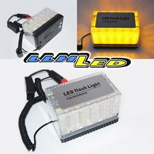 DC12V MAGNETIC 48 AMBER LED FLASHING STROBE LIGHT FOR ROOF TOP PLUG N PLAY