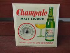 VINTAGE CHAMPALE MALT LIQUOR THERMOMETER ADVERTISING DISPLAY SIGN STORE BAR
