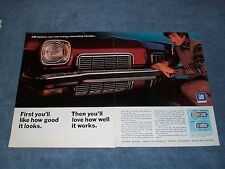 """1973 GM Oldsmobile Cutlass Vintage 2pg Ad """"First You'll Like How Good it Looks"""""""