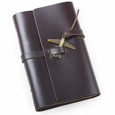 Ancicraft Leather Journal Diary with Retro Airplane A6 Lined Paper Portable Gift