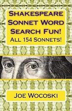 Shakespeare Sonnet Word Search Fun! : 154 Word Search Sonnets for Days of...
