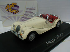 "Norev 270301 # Morgan plus 8 Baujahr 1980 "" Royal Ivory "" in cremweiß 1:43 NEU"