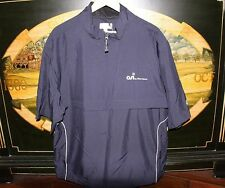 Mens Large Navy Blue WindTec Golf Half Sleeve WindShirt Cutter Buck ALLSTEEL OSI