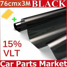 Window Tint Film Black 76cm X 3m Roll VLT 15% For Car Auto House Commercial