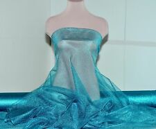 """METALLIC TULLE STETCH NETTING TURQUOISE  60"""" ,COSTUME, DECOR, ,PAGEANT, FORMAL"""