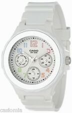 Casio LRW250H-7B Ladies White & Silver Sports Watch 100M Day/Date Rotating Bezel
