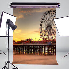 Exquisite Playground Ferris Wheel Cameras  Photography Backdrop 5x7ft