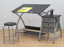 Studio Designs Drawing Table with Stool Station Art Storage Artist Desk Craft