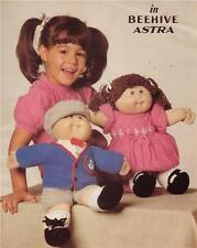 CABBAGE PATCH BOY & GIRL SET - 8ply or D.K. -  doll knitting patterns