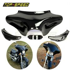 Front Outer Batwing Fairing For Harley Softail Road King FLHT FLHX Moto Black