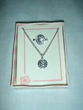 New in Box - Mercury Dime Replica Necklace and Ring Set - Silver Tone Metal