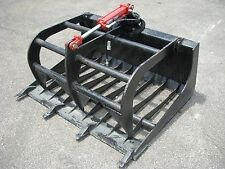 "Bobcat Skid Steer Loader Attachment - 48"" Rock Bucket Grapple - Free Ship!!"