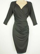 BNWT Savoir Confident Curves Secret Support Black Wrap Effect Dress Size 18