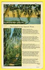 cpa By ASHEVILLE Post Card The LEGEND of the SPANISH MOSS Fable Conte récit