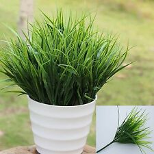 "15"" Artificial Fake Plastic Green Grass Plant Flowers Home Office Decor Stylish"