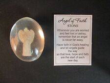 h ANGEL OF FAITH comfort stone Ganz love hope faith worry healing feeling lost