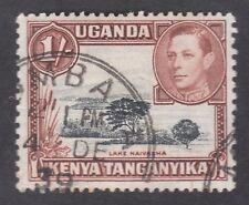 Uganda Kenya Tanganyika - 1/- Shilling 1938 Used Postage Stamp - Lake Naivasha