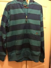 Volcom Skateboarding hoodie hooded Zip Up Men's Striped Size M EUC