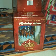 BUDWEISER CLYDESDALES HOLIDAY STEIN 2005 BEER MUG NEW