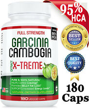 180 Caps Strongest 95% HCA Garcinia Cambogia Weight Loss Diet Pills Fat Burner