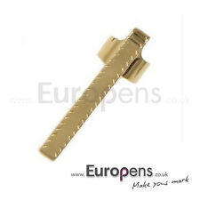 Fisher Bullet Space Pen Clip - GOLD CHEVRON (FGCL) to fit 400 Series