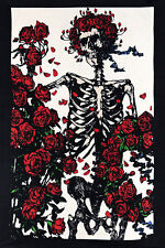 Greatful Skelleton Roses BerthaTapestry 3D & Black Light 30X45 Sunshine Joy