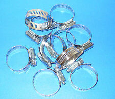 """STAINLESS STEEL BAND HOSE CLAMP 1-1/16""""-2"""" AMGAUGE #24 CLAMPS 10 PIECES"""