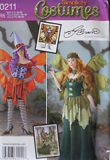 Simplicity Misses Fantasy Fairy Sprite Dress Costume Pattern 1550 790 UC 14-22