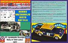 ANEXO DECAL 1/43 FIAT 131 ABARTH HANNU VALTAHARJU 1000 LAKES 1977 (03)