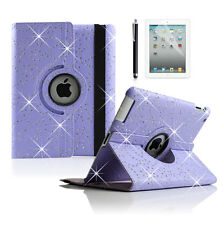 360° Swivel Rotating Bling RETINA Leather Case Cover for Apple ipad mini 1 2 3