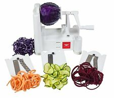 PADERNO World Cuisine Turning Vegetable Slicer Spiralizer Tri Blade Cutter NEW