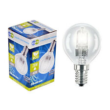 2 Eco Halogen Energy Saving Golf Balls Light Bulb 28w =40w E14 SES Edison Screw