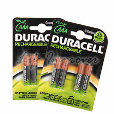 8 DURACELL AAA 750mAh 1.2V RECHARGEABLE BATTERIES BATTERY ACCU LR6 HR6 DC1500