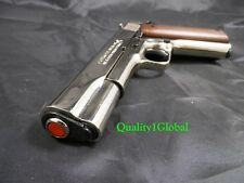 FLIM PRODUCTION 3D CHROME METAL ITALY MOVIE PROP Pistol Replica 1911 Gun COLT