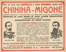W1605 Chinina Migone per cura barba - Pubblicità del 1927 - Old advertising