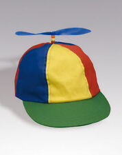 PROPELLER BEANIE HAT CAP MULTI-COLOR CLOWN COSTUME HAT BLUE RED GREEN BASEBALL