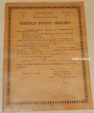 CERTIFICAT D'ETUDES PRIMAIRES ELEMENTAIRES à PARIS le 4 octobre 1940
