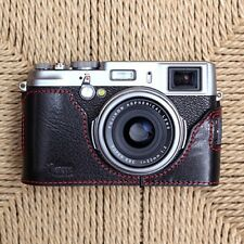 CIESTA Genuine Leather Camera Half Case Skin (Black) for Fuji X100s Fujifilm