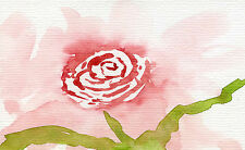 original impressionist rose watercolour painting (Floral / gardens)