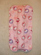Kids handmade seat belt pad réversible-hello kitty/rayures (36)