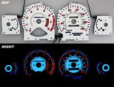 96-97 Honda Accord Night Glow Gauges White Face Reverse