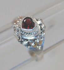 GARNET CREMATION RING HEART URN RING GOLD SILVER HEART 9.25 CREMATION JEWELRY