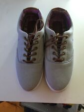 BABYPHAT GRAY W/ PURPLE STITCHING CANVAS SNEAKERS SZ 8.5 Women Worn Once!