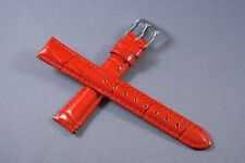 16mm Red 100% Genuine Leather Watch Band,Strap,Interchangeable,Quick Release