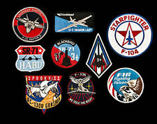 Lockheed USAF AC-130, F-22, U-2, SR-71, F-16, F-104, F-117 Aircraft Patches